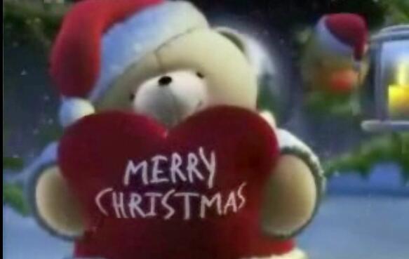 Auguri di buon natale orsetto